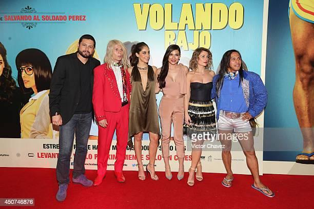 Film director Beto Gómez and cast members Rodrigo Oviedo Sandra Echeverría Ana Brenda Contreras Ludwika Paleta and Gerardo Taracena attend the...