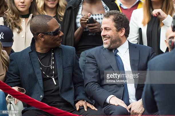 Film Director Brett Ratner and actor Eddie Murphy attend the ceremony honoring him with a star on the Hollywood Walk of Fame on January 19 2017 in...