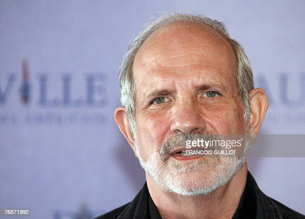 US film director Brian de Palma poses during the photocall of Redacted at the 33rd US film festival in Deauville on the French northwestern coast 07...
