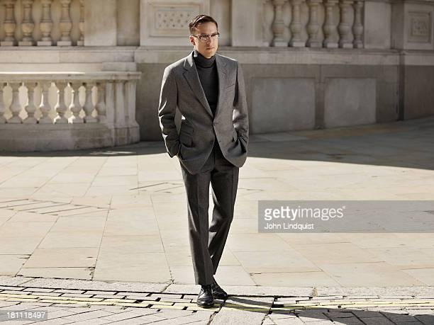 Film director Cary Fukunaga is photographed for Mr Porter on August 21 2011 in London England