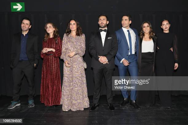 Film director Celso Garcia Natasha Dupeyron Ana Serradilla Carlos Ferro Miguel Angel Silvestre Marisol Martinez and Minnie West attend 'La Boda de Mi...