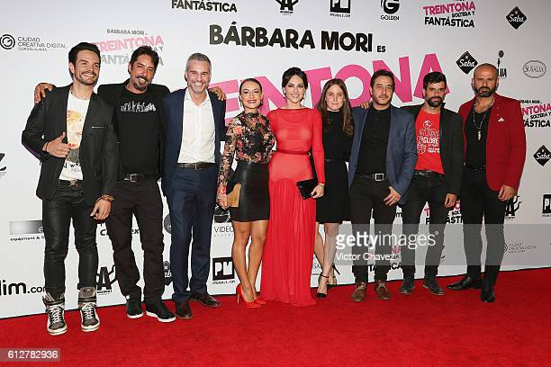 Film director Chava Cartas Juan Pablo Medina Marimar Vega Barbara Mori Natasha Dupeyron Andres Almeida and cast members of the film attend the...