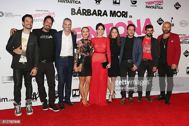 Film director Chava Cartas Juan Pablo Medina Marimar Vega Barbara Mori Natasha Dupeyron Andres Almeida and cast members of the film attend the...