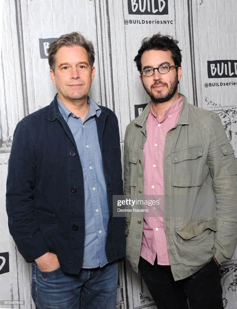 Film director Christopher Dillon Quinn and novelist Jonathan Safran Foer visit Build Series to discuss 'Eating Animals' at Build Studio on June 13, 2018 in New York City.