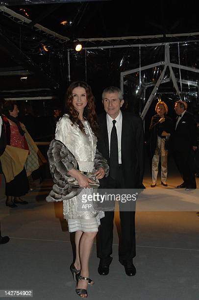 Film director Claude Lelouch and his wife, actress Alessandra Martines attend the inuagural of the celebrated Palazzo Grassi, bought and renovated by...