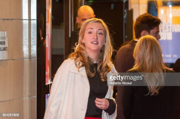 Film director Daisy Aitkens attends the European Premiere of 'You, Me and Him' during the 14th Glasgow Film Festival at Glasgow Film Theatre on...