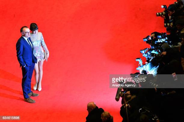 Film director Danny Boyle and Actress Anjela Nedyalkova attend the red carpet of 'T2 Trainspotting' during the 67th Berlinale International Film...