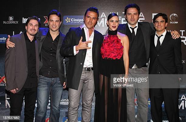 Film director David Ruiz Leche actor Kuno Becker film producer Billy Rovzar actress Alexandra De La Mora film producer Fernando Rovzar and Alexis...