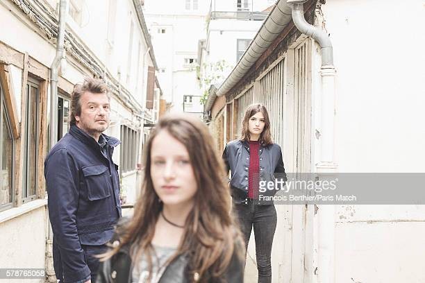Film director Diasteme with actors Alma Jodorowsky and Luna Lou are photographed for Paris Match on June 16 2016 in Paris France