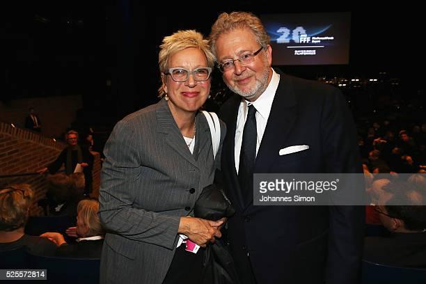 Film director Doris Doerrie and her husband Martin Moszkowicz attend the FilmFernsehFonds Bayern celebrations at Gasteig CarlOrffSaal on April 28...