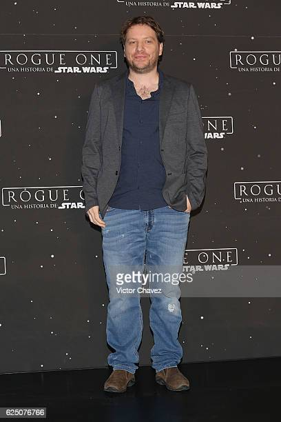 Film director Gareth Edwards attends a press conference and photocall to promote the film Rogue One A Star Wars Story at St Regis Hotel on November...