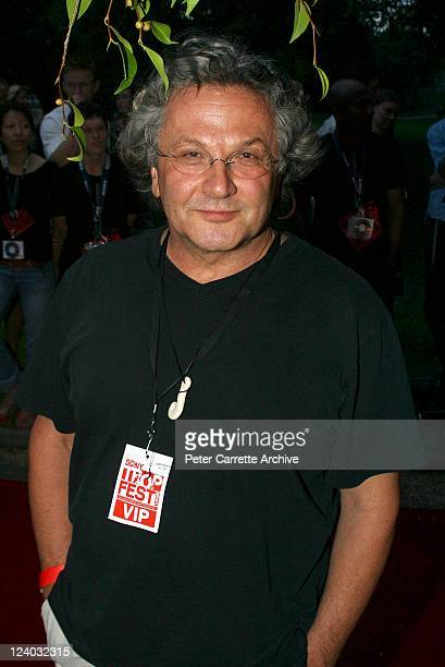 Film director George Miller arrives at the Sony Tropfest 2004 short film festival at the Domain Royal Botanic Gardens on February 22 2004 in Sydney...