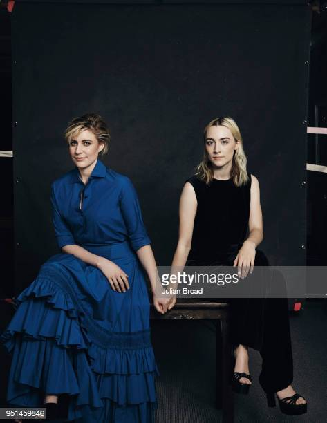 Film director Greta Gerwig and actor Saoirse Ronan are photographed for Variety magazine on November 23 2017 in London England