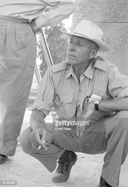 Film director Howard Hawks in Egypt where he is filming The Land Of The Pharaohs