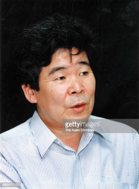 Film director Isao Takahata speaks during the Asahi Shimbun interview on August 1, 1996 in Tokyo, Japan.
