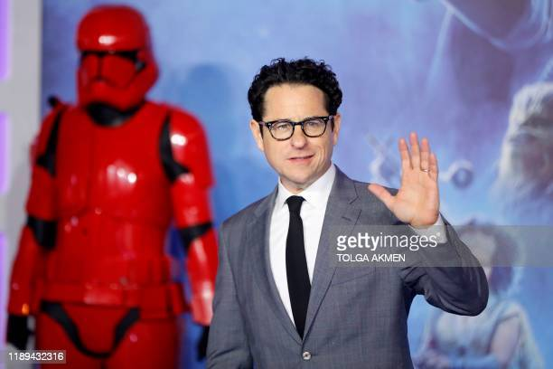 US film director J J Abrams poses on the red carpet upon arrival for the European film premiere of Star Wars The Rise of Skywalker in London on...