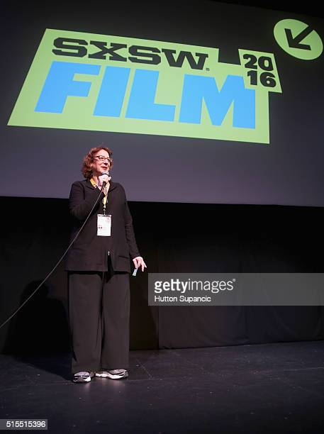 Film Director Janet Pierson speaks at the premiere of Accidental Courtesy Daryl Davis Race America during the 2016 SXSW Music Film Interactive...