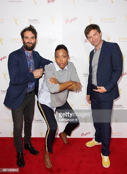 Film Director Jay Duplass Actress Aisha Tyler and Film Director Mark Duplass attend the Television Academy Celebrates Interactive Media Nominees for...