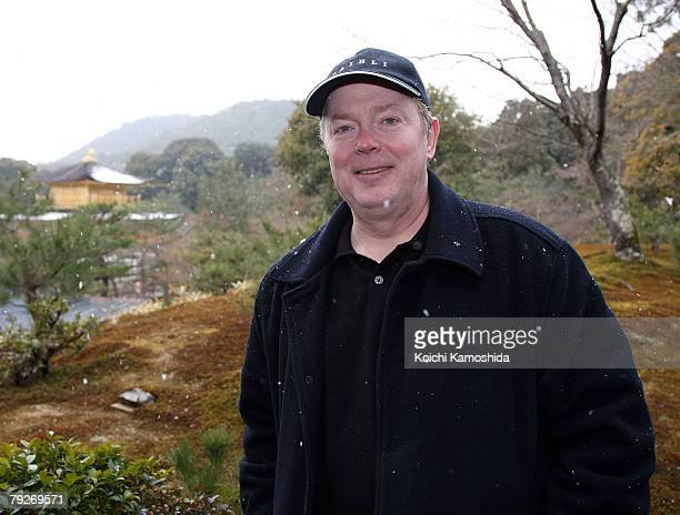 Film director Jay Russell poses for photographs at the Golden Pavilion Kinkakuji Temple on January 26 2008 in Kyoto Japan Russell is in Japan to...