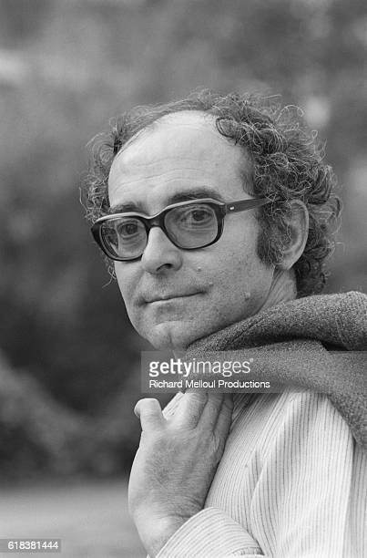 Film director JeanLuc Godard at Cannes Film Festival to present his last movie Every Man for Himself The French director was accompanied by his...