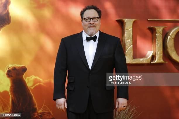 Film director Jon Favreau poses on the red carpet upon arriving for the European premiere of the film The Lion King in London on July 14, 2019.