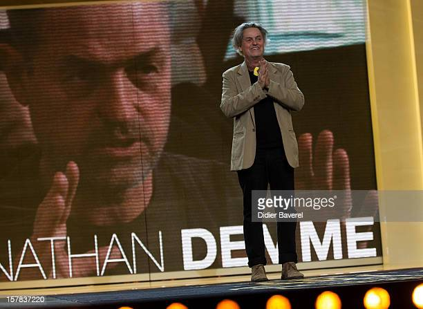 Film director Jonathan Demme comes to receive an award at the tribute to Jonathan Demme at 12th International Marrakech Film Festival on December 6,...