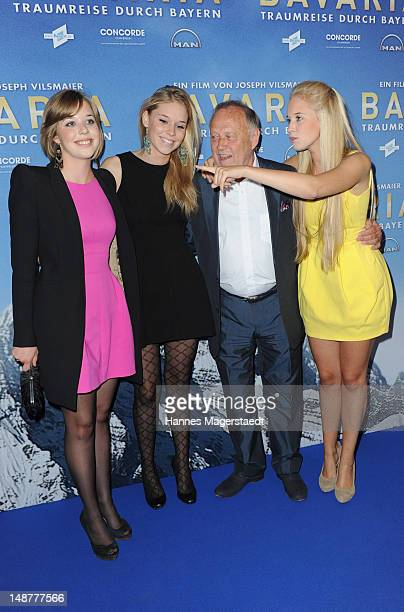 Film director Joseph Vilsmaier and his daughters Josefine, Janina and Theresa attend the 'Bavaria' Germany Premiere at the Mathaeser Filmpalast on...