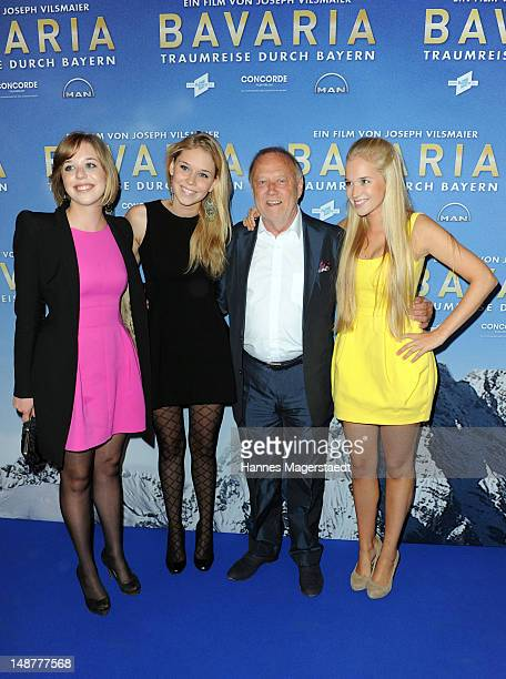 Film director Joseph Vilsmaier and his daughters Josefine Janina and Theresa attend the 'Bavaria' Germany Premiere at the Mathaeser Filmpalast on...