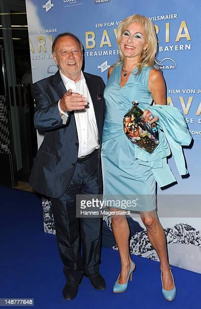 Film director Joseph Vilsmaier and his girlfriend Birgit Muth attend the 'Bavaria' Germany Premiere at the Mathaeser Filmpalast on July 19, 2012 in...