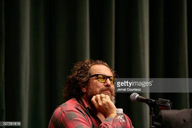 """Film Director Julian Schnabel at a press conference for the film """"The Diving Bell and the Butterfly"""" held at the Walter Reade Theater during the 45th..."""
