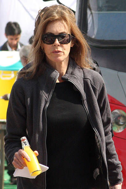 US film director Kathryn Bigelow walks on the set of her forthcoming film on Osama bin Laden in Chandigarh on March 10 2012 Under the working title...