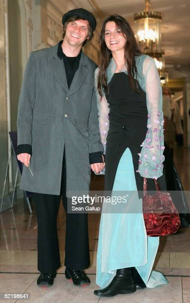 """Film director Katja von Garnier arrives with her husband at the """"Cinema For Peace"""" Awards on February 14, 2005 in Berlin, Germany."""