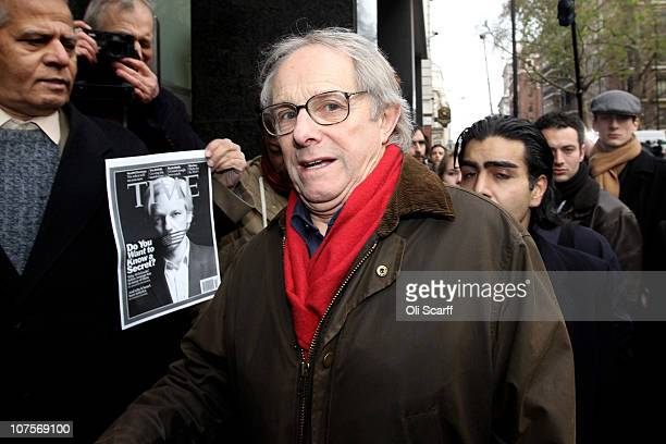 Film director Ken Loach arrives at Westminster Magistrates court as Wikileaks founder Julian Assange appeals for bail on December 14, 2010 in London,...