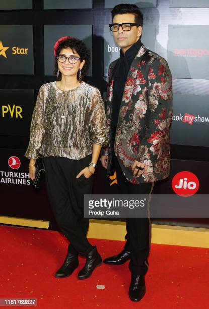 Film director Kiran Rao and Karan Johar attend the jio MAMI 21st Mumbai film festival on October 17 2019 in Mumbai India
