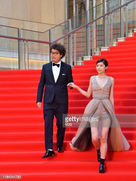 Film director Koichiro Miki and actress Yui Sakuma arrive at the opening ceremony of Tokyo International Film Festival 2019 at Roppongi Hills on...