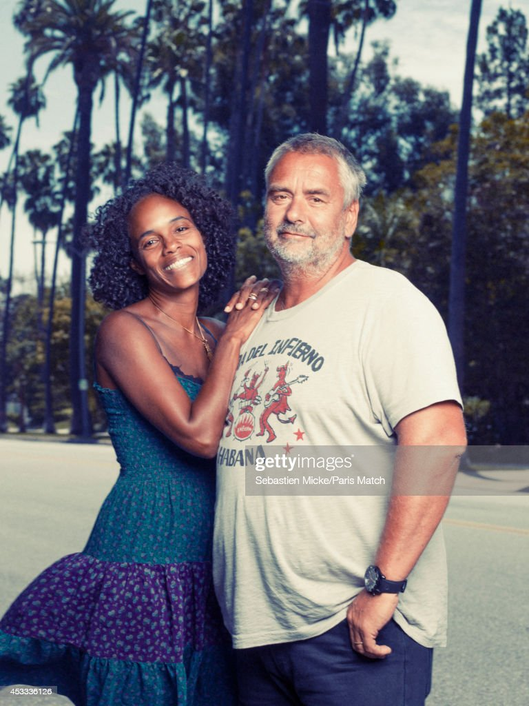 Film director Luc Besson and his wife Virginie are photographed for Paris Match on July 25, 2014 in Santa Monica, California.