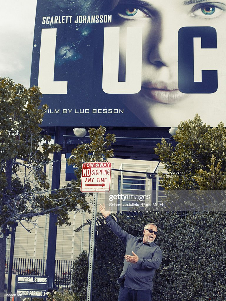 Film director Luc Besson is photographed for Paris Match on July 25, 2014 in Santa Monica, California.