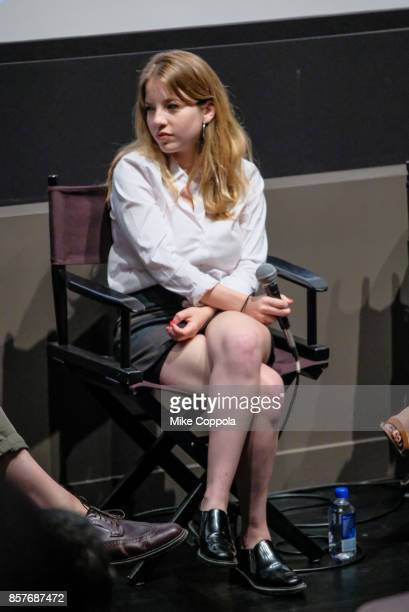 Film Director Mariana Sanguinetti speaks at the 55th New York Film Festival Shorts Program 1 Narrative at Francesca Beale Theater on October 4 2017...