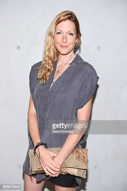 "Film Director Megan Raney Erins attends the Daniel Arsham ""Colorblind Artist: In Full Color"" at Spring Place on September 19, 2016 in New York City."