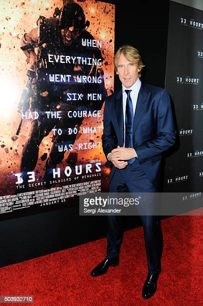 Film director Michael Bay attends Miami Special Screening of '13 Hours The Secret Soldiers of Benghazi ' at Aventura Mall on January 7 2016 in Miami...