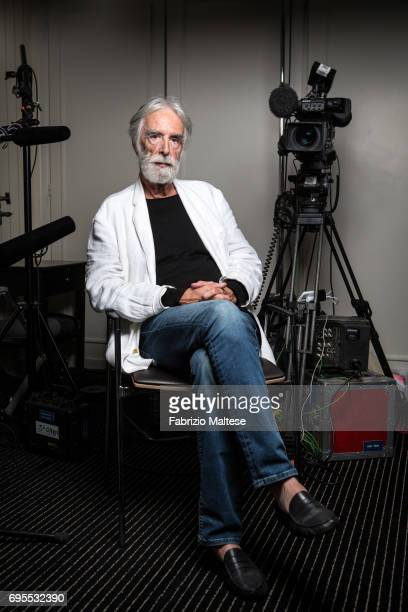 Film director Michael Haneke is photographed for the Hollywood Reporter on May 24 2017 in Cannes France