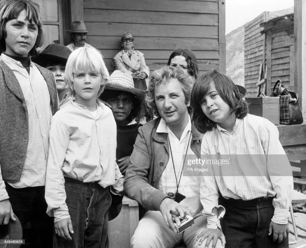 Film Director Michael Winner On The Set Of His Western Chatou0027s Land, Which  Stars Charles