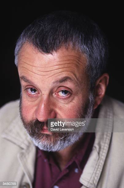 Film director Mike Leigh poses in London England on September 20 1996