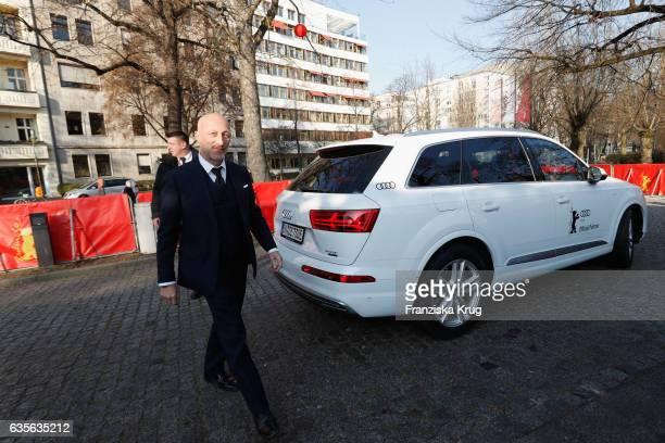 Film Director Oliver Hirschbiegel arrives at the 'Der Gleiche Himmel' premier during the 67th Berlinale International Film Festival Berlin at Haus...