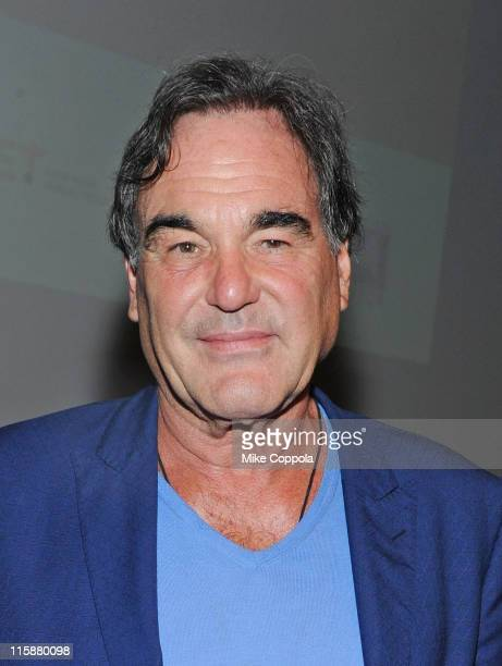 Film director Oliver Stone attends the 'Alexander Revisited' screening during the Film Society of Lincoln Center launch at Walter Reade Theater on...