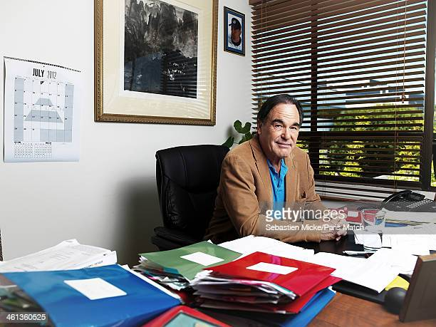 Film director Oliver Stone is photographed for Paris Match on July 16 2012 in Los Angeles California