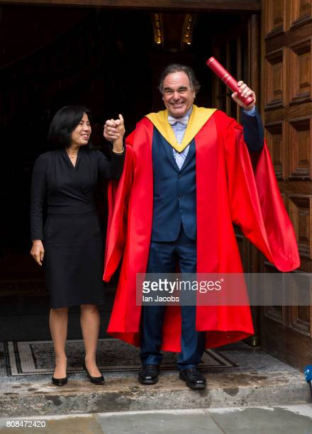 Film Director Oliver Stone Receives A Honorary Degree From Edinburgh University July 4 2017 in Edinburgh Scotland