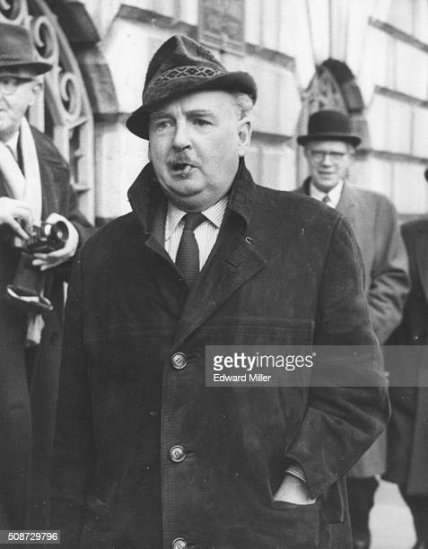 Film director Paul Rotha pictured arriving at Mansion House Court where actress Constance Mary Smith is charged with stabbing him London January 11th...