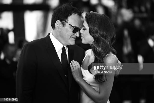 US film director Quentin Tarantino and his wife Israeli singer Daniella Pick arrive for the screening of the film Once Upon a Time in Hollywood at...