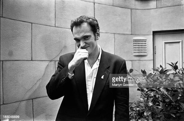 Film director Quentin Tarantino, portrait, London, United Kingdom, 1994.
